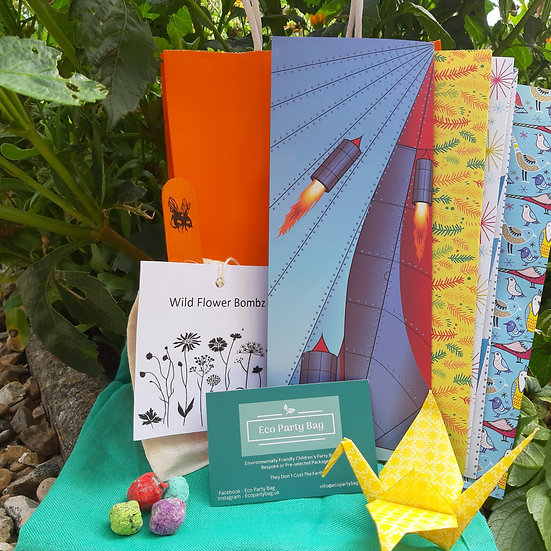 Origami and Seed Bomb Eco Party Bag