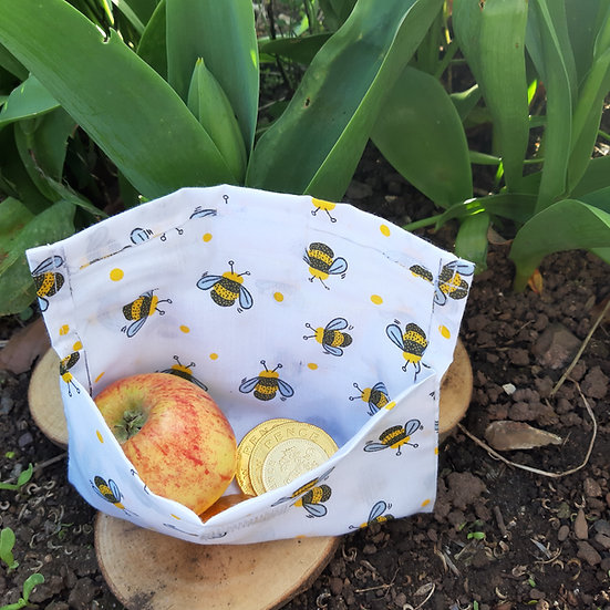 Snack Pouch/ Velcro Cotton Gift Bag