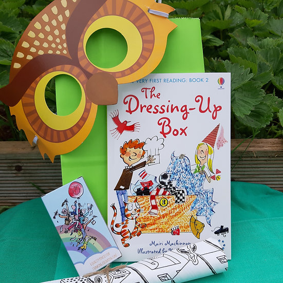Reading Book, Mask and Colouring Eco Party Bag