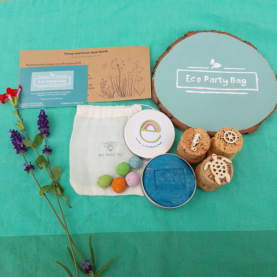 Eco Glitter Play-dough, Stamps And Wildflower Seed Bombs