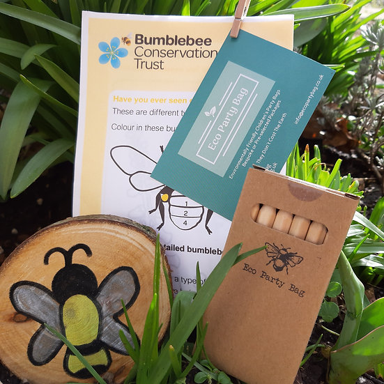 Save The Bees - Eco Party Bag - Bee Sign