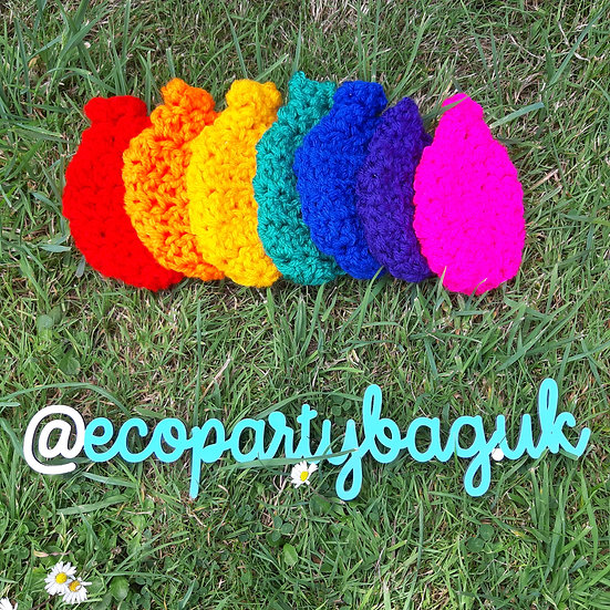 Rainbow Reuseable Water Balloons Set Of 7