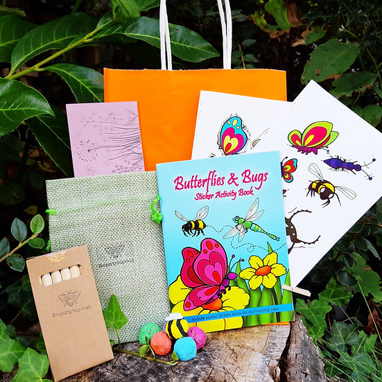 Wildflower Seed Bombs, Sticker Book and Pencils