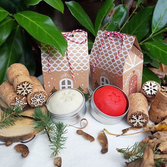 Christmas playdough and cork stamps x 3 eco glitter and gingerbread house