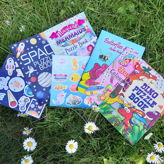 Puzzle and Sticker Book