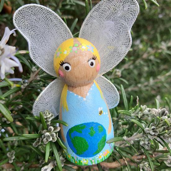 WORLD EARTH DAY Peg Doll Fairy