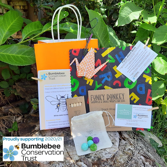 Bumblebee Conservation Trust Activity Bag - Beeswax Snack Wrap