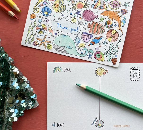 Colouring Postcards - Pack of 8