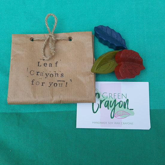Soy Wax Crayons - Leaves X 3