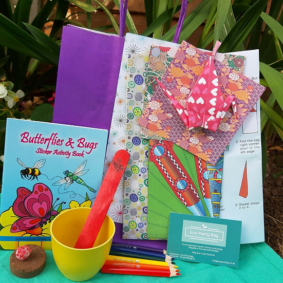 Origami and Sticker Book Eco Party Bag