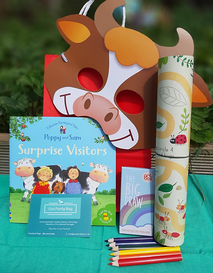 Farmyard Theme With Activity Sheet Eco Party Bag