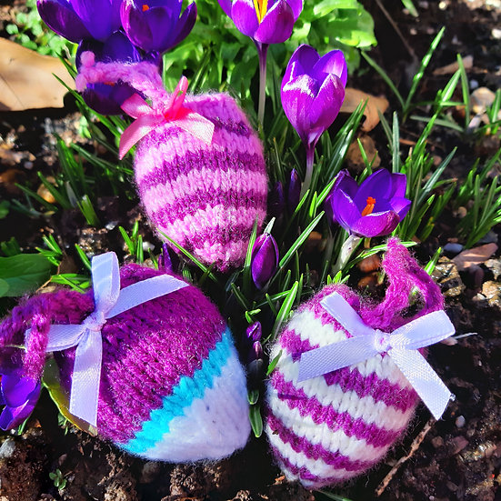 Knitted Hanging Egg Cosy - Random Colours