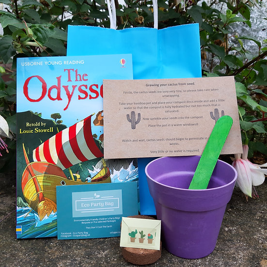 Cactus Seed Eco Party Bag