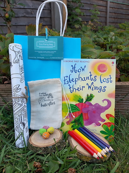 Drawing Set, Book and Seed Bomb Eco Party Bag
