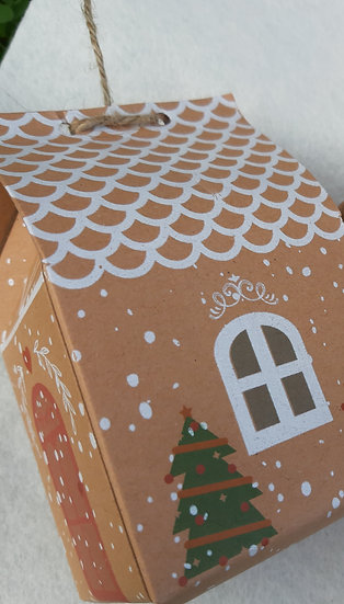 Gingerbread house gift box x 5
