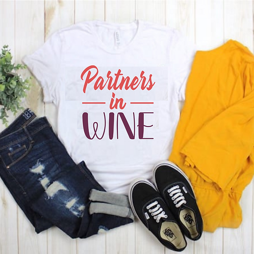 """Partners in Wine"" Sip & Paint Tee"