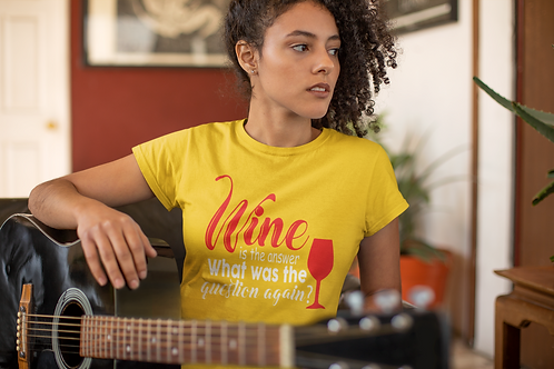 """""""Wine is the answer..."""" Sip & Paint Tee"""