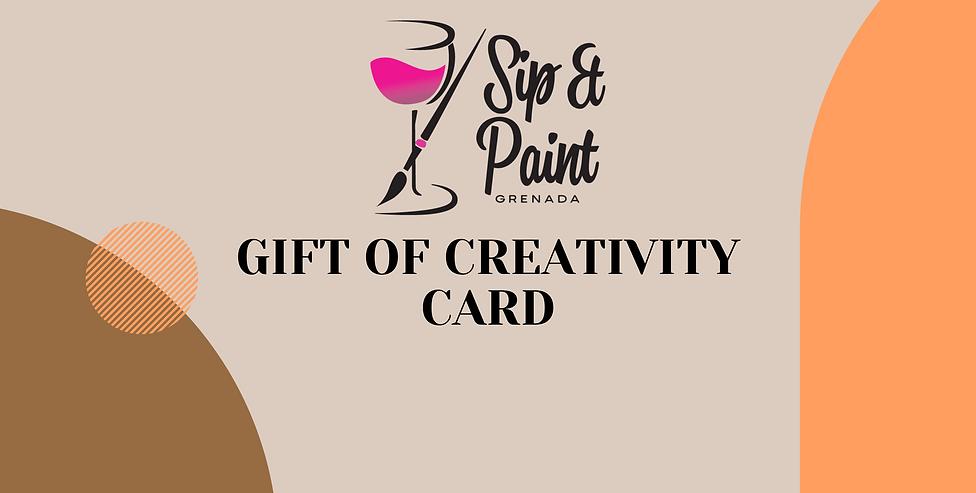 Gift Of Creativity Card
