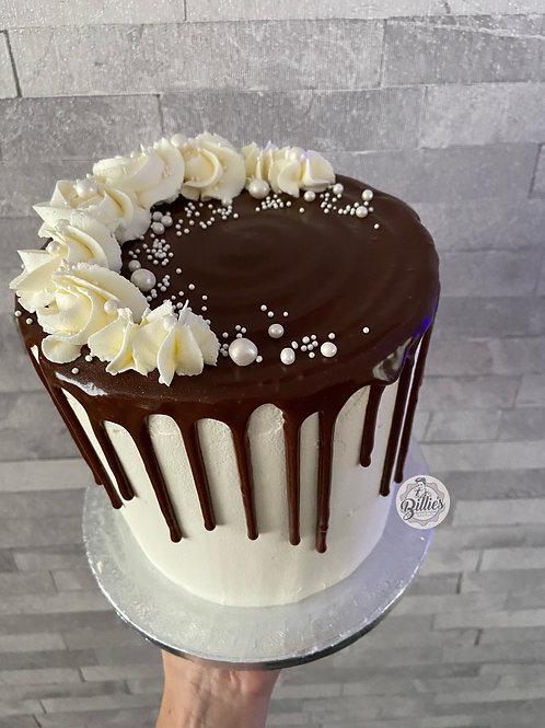 """Simple 6"""" Drip Cake"""