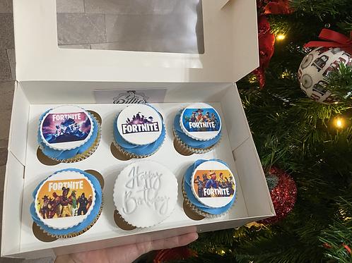 Printed Topper Cupcakes