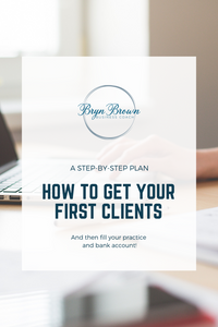Step-by-step plan to getting your first clients in your service based business