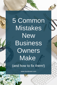 Learn the most common mistakes when starting a new business