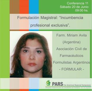 Conferencia de la Dra. Avila en el PARS organizado por AEFRA en San Luis
