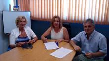 Firma del convenio con el Colegio Oficial de Farmaceuticos y Bioquimicos de Cap Fed.