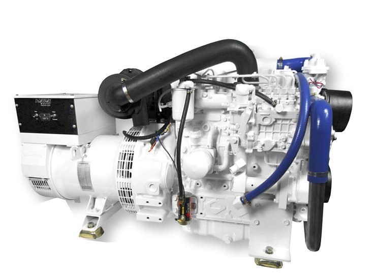 Kubota 30 kW V3300-E3BG Marine Diesel Generator (Heat Exchange)