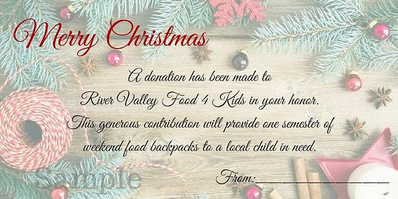 Christmas Card- $25 Gift