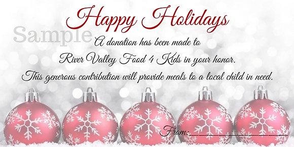 Holiday Card- $10 Gift