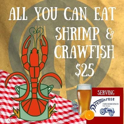 All You Can Eat Shrimp & Crawfish Boil