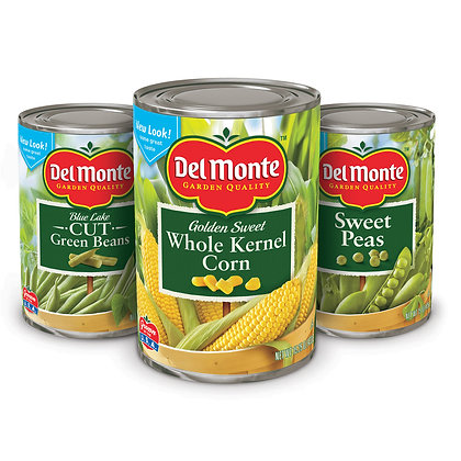 Canned Vegetables (6 cans)