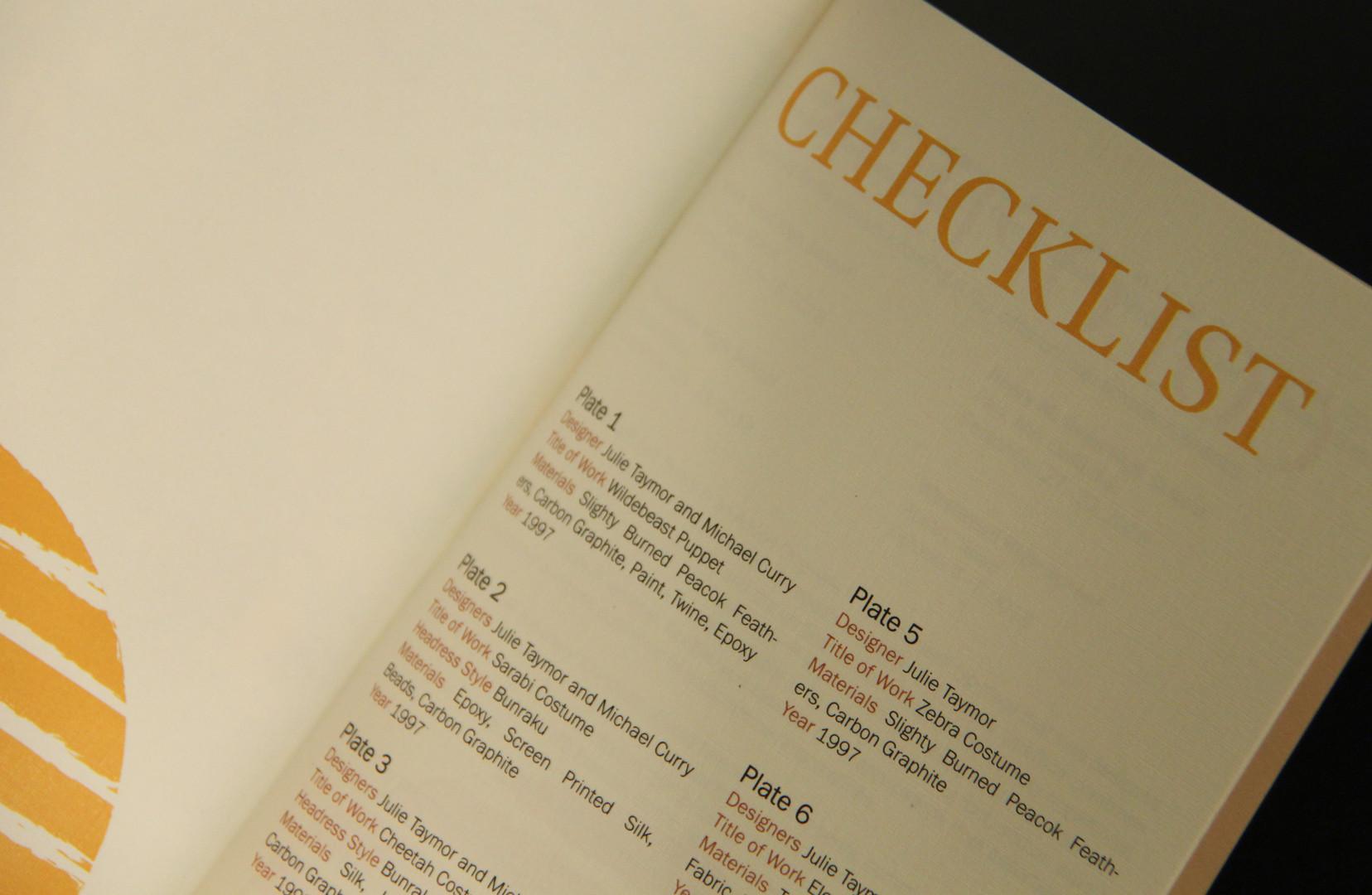 Close Up Checklist
