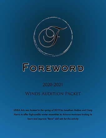 Foreword Winds 2021 Audition Packet Cove