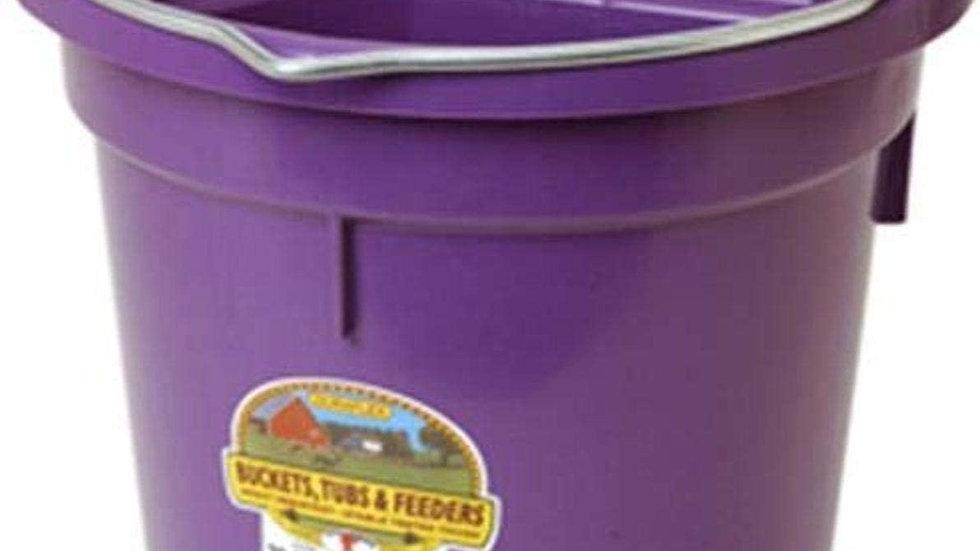 Little Giant Flat-Back Dura-Flex Plastic Bucket, 20-Quart