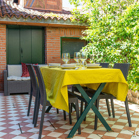 FORNACE apartment with canal private garden terrace, Venice - Italy.