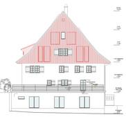 Baueingabe Fassadenansicht