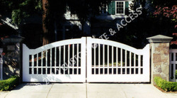 Wooden Driveway Gate 1