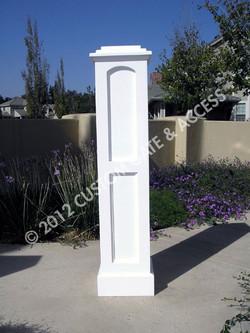 Wooden Recessed Panel Column