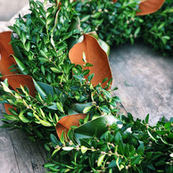 Handmade Magnolia & Boxwood Wreath