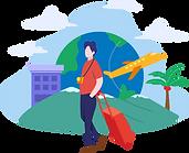 Travel Agency For Traveling Flat Illustr
