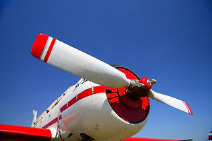 The red beautiful propeller of backgroun