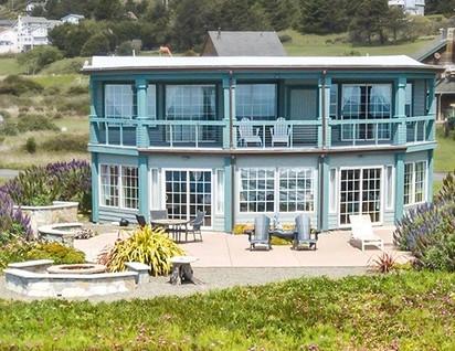 Oceanside of house