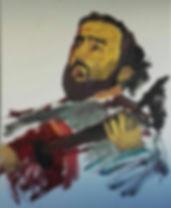 Pintura de Felix Collado por el artista local Javier Córdoba