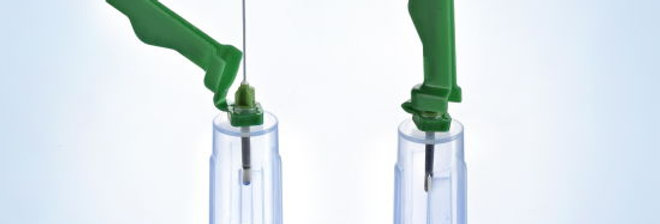 Blood Collection Needle Holder with Safety Cover, Suitable for all brand needles