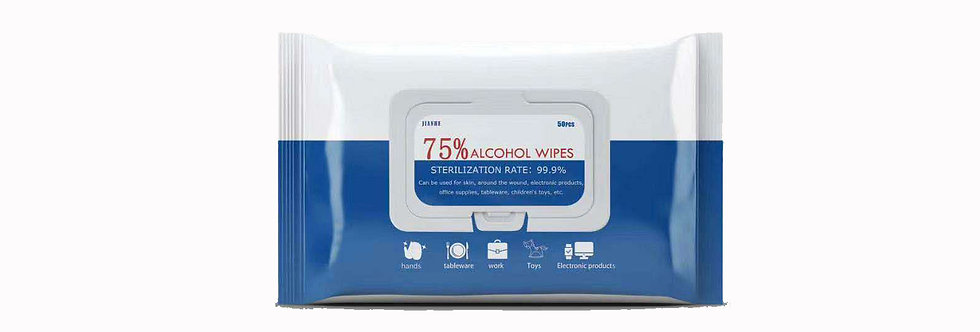 75% Alcohol Disinfection Wipes, 50 sheets/pack, Soft & Clean Non woven Wipes