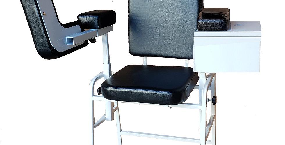 Blood Drawing Chair, Cabinet, Adjustable Armrest