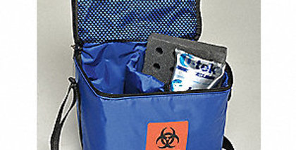 Duo Compartment Cooler Bag, Specimen Transport,On-site Collection, Storage