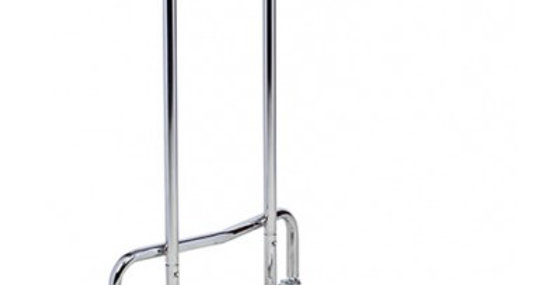 """Mayo Stand, Stainless Steel Tray 19""""x12""""x5/8"""", Adjustable Height 34"""" to 54 1/2"""""""